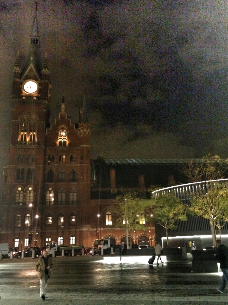 St. Pancras Station at night