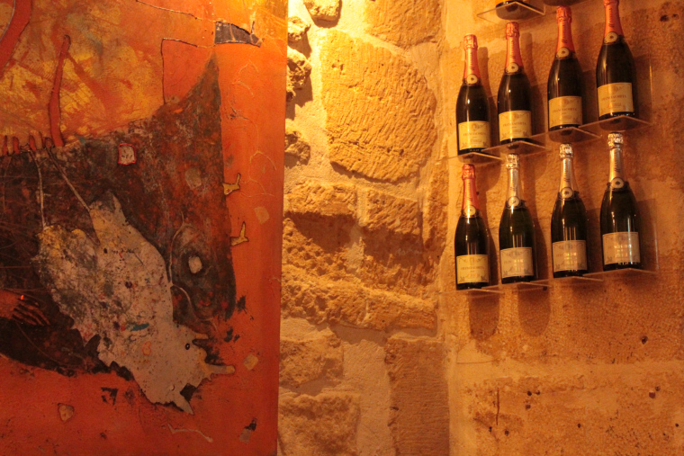 inside the Art Kafe in Paris