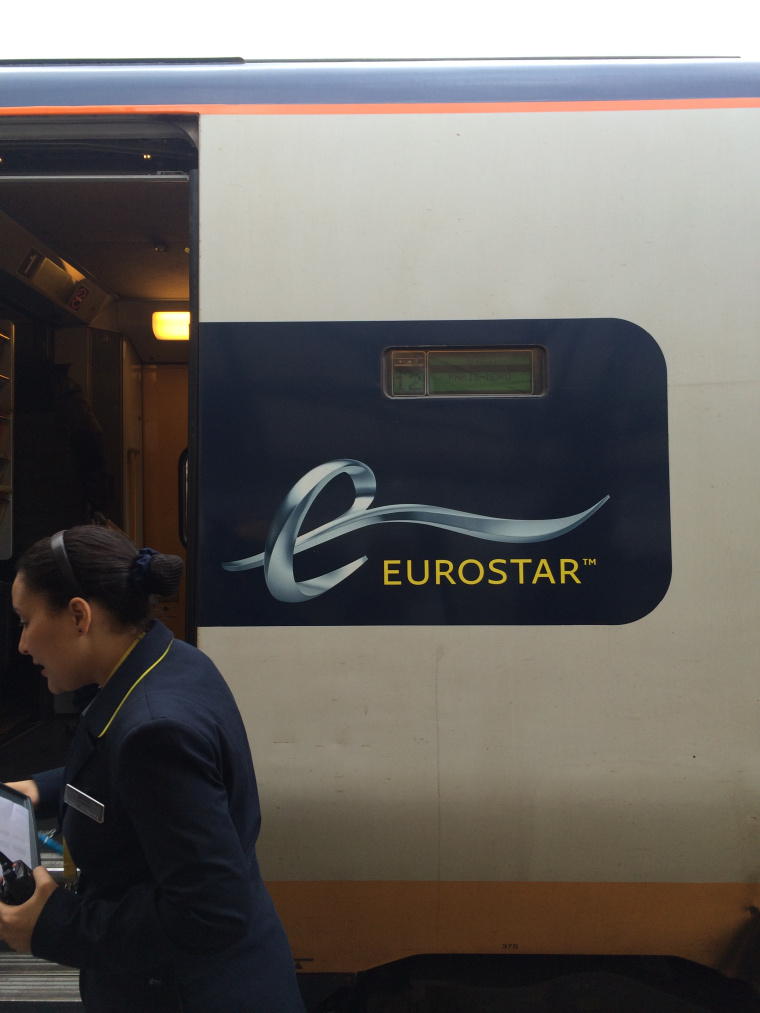 Boarding the Eurostar for Paris