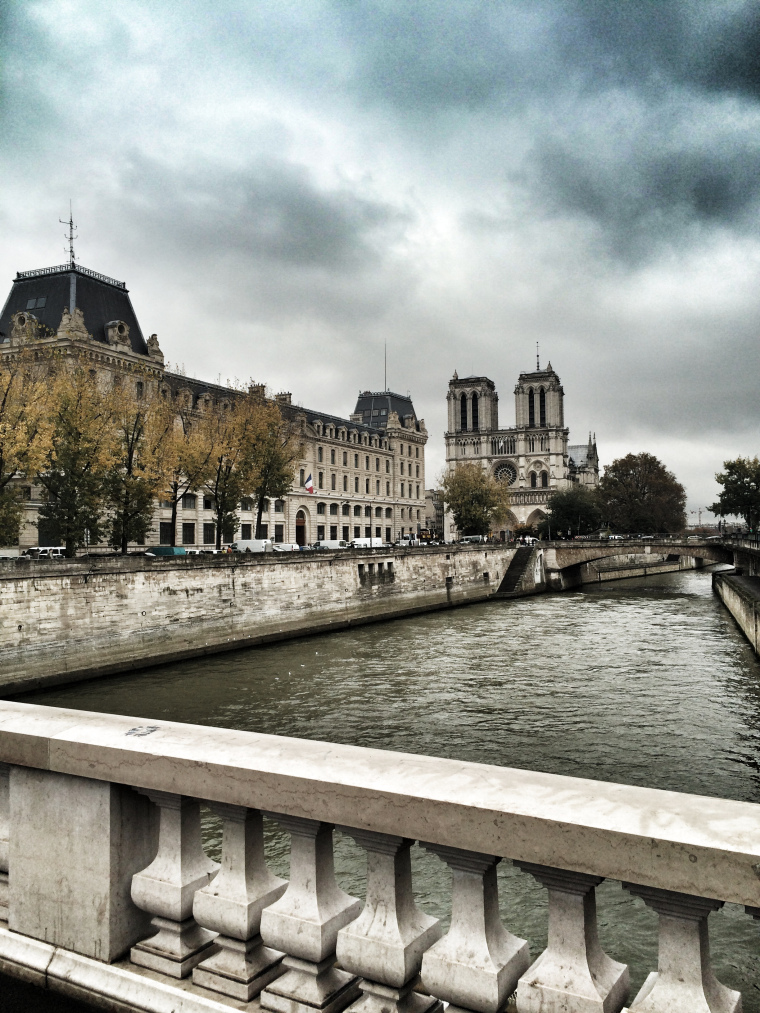 View towards Notre Dame in Paris
