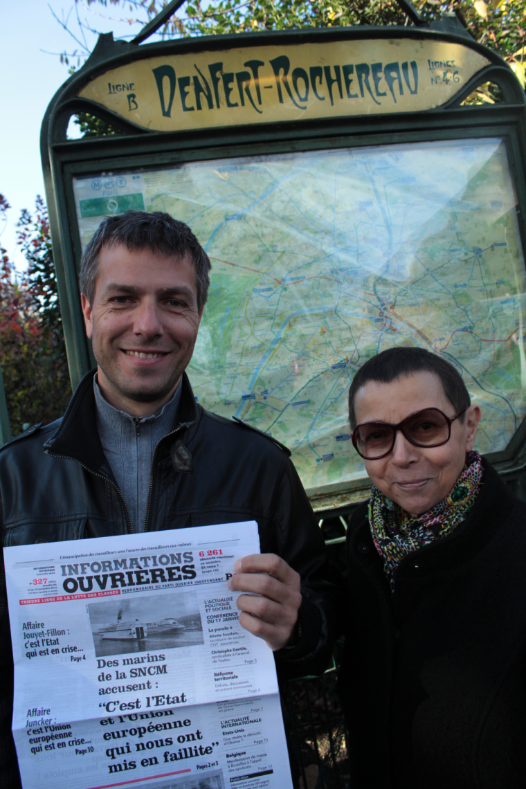 Two Parisians at a PCF rally in Paris