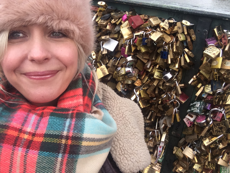Travel Candy on the lock bridge in Paris