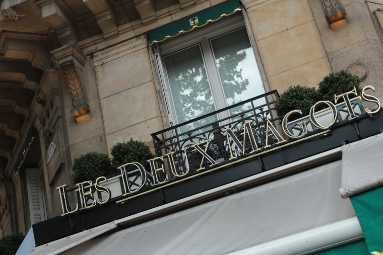 Outside of the Cafe deux magots in Paris