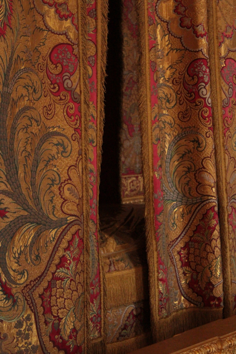 Curtains in the King's bedroom