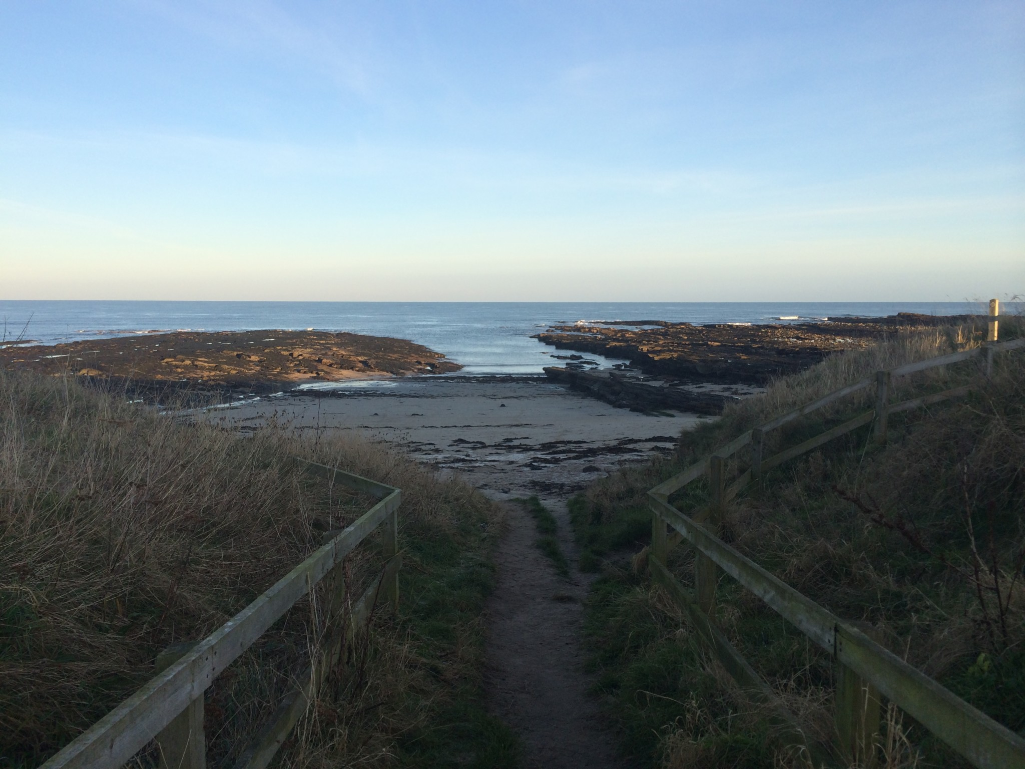 Beadnell beach is just a stone's throw from No.5 Appletree apartment
