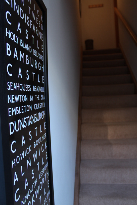 The entrance hall of No.5 Appletree apartment in Beadnell, Northumberland
