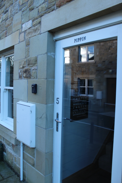 Outside of No.5 Appletree apartment in Beadnell, Northumberland