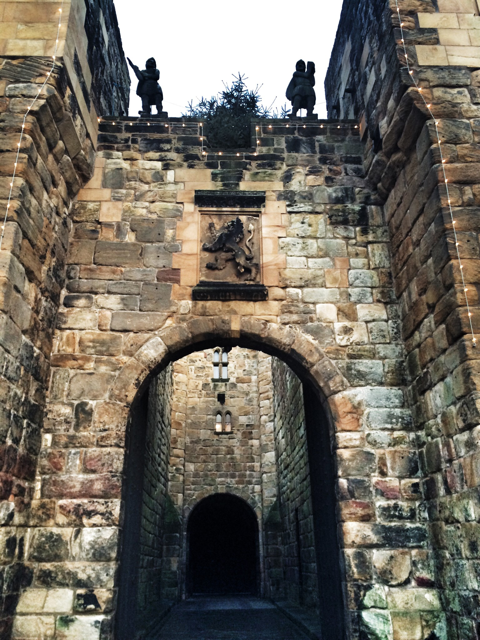 Entrance to Alnwick Castle Northumberland