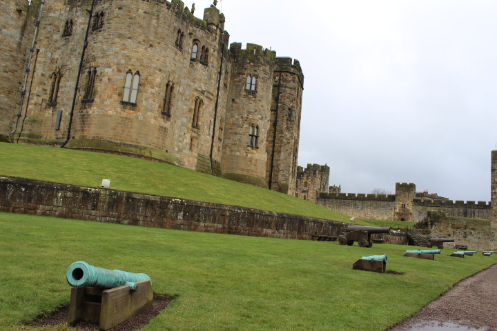 Inside the grounds of Alnwick Castle