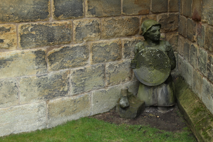 Statue in Alnwick Castle grounds