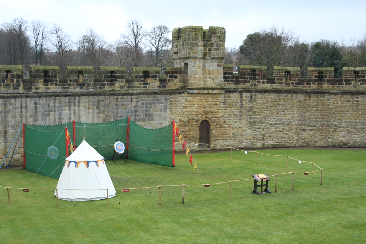 Interior grounds of Alnwick Castle Northumberland