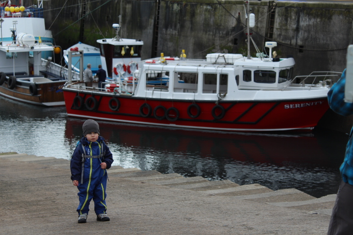 Boy by Seahouses harbour