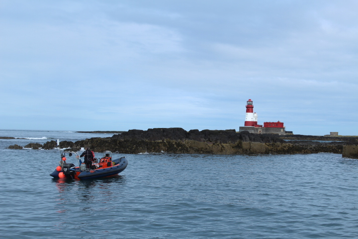 Dive boat off the farne islands northumberland
