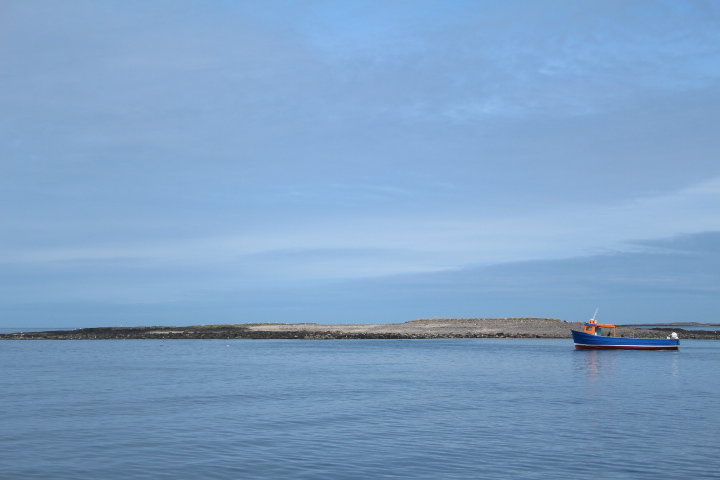 Boat by the Farne Islands northumberland