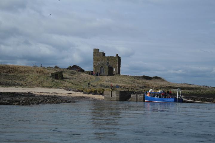 Boat landing on inner farne island northumberland