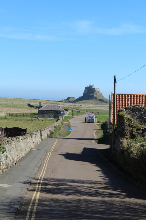 Road to Lindisfarne Castle