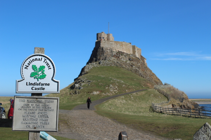 Approaching Lindisfarne Castle