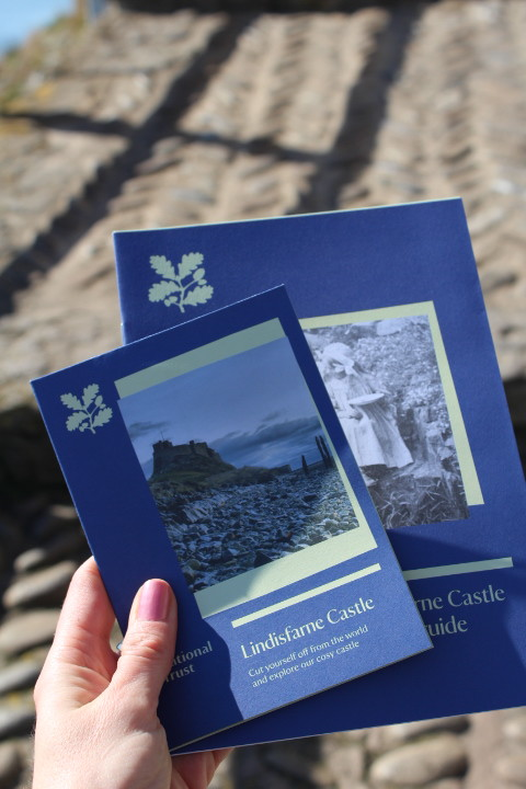 National Trust leaflets for Lindisfarne Castle