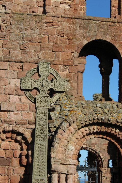 The entrance to Lindisfarne Priory