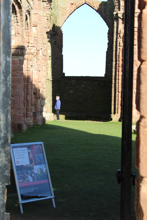 Entrance to Lindisfarne Priory Holy Island Northumberland