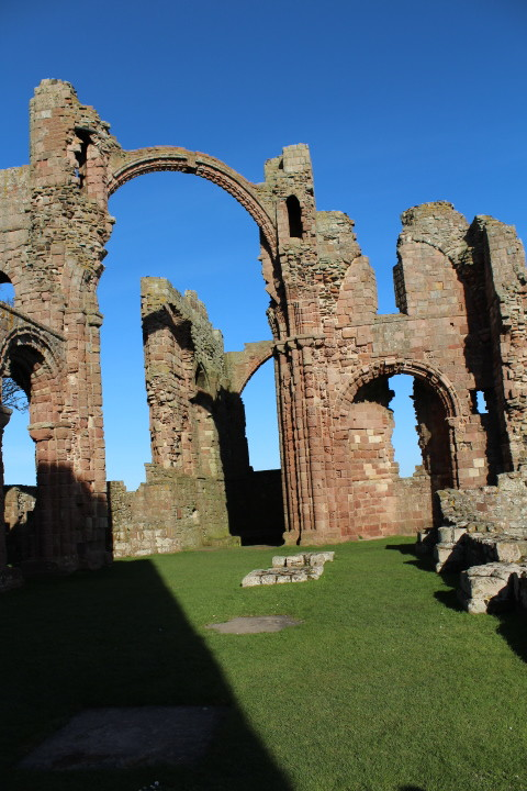 The main arch of Lindisfarne Priory