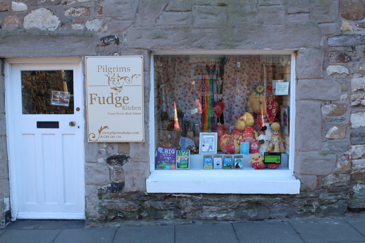 Pilgrim's shop on Holy Island Northumberland