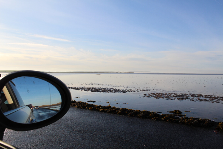 The causeway at Holy Island at low tide