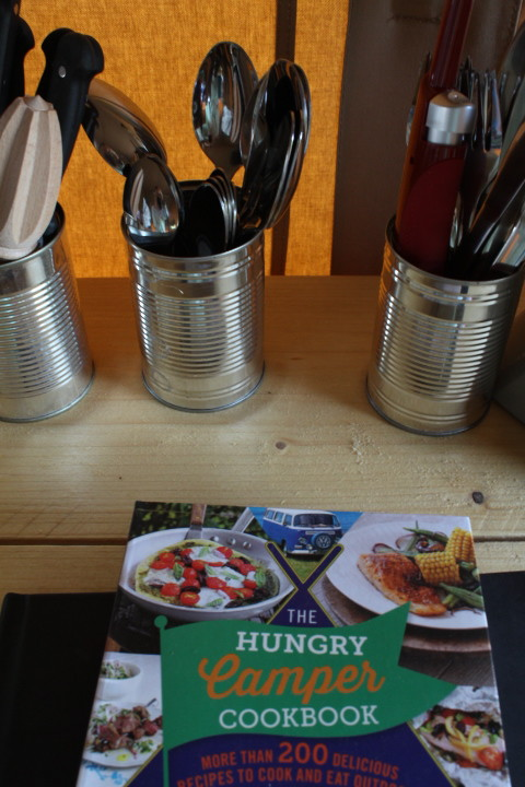 Camping cookbook provided in our tent at drovers rest