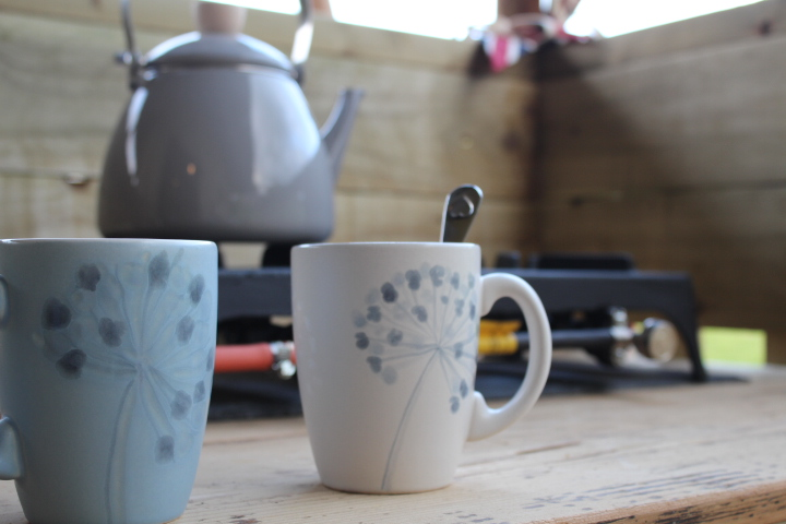 outdoor stove and kettle at drover's rest glamping site hay on wye