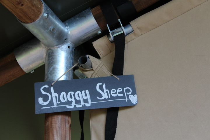 Name of glamping tent at Drovers Rest Hay on Wye