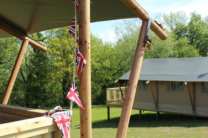 luxury safari glamping tent at hay on wye