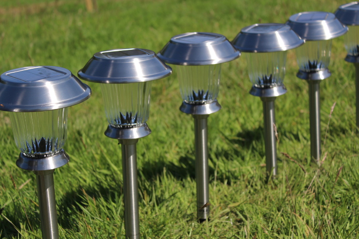 solar lights at Drovers Rest glamping site in wales