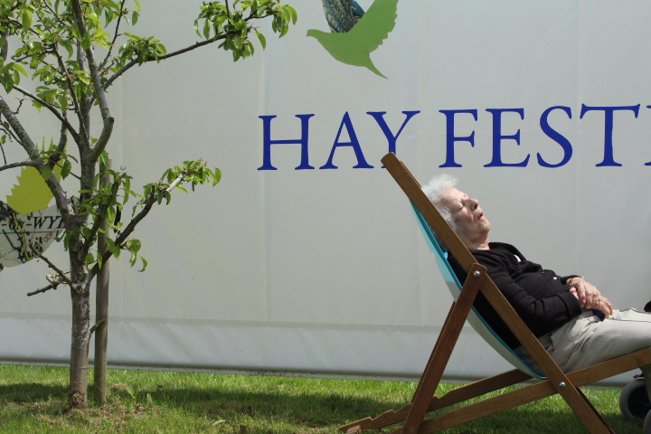 Asleep at Hay Festival Wales