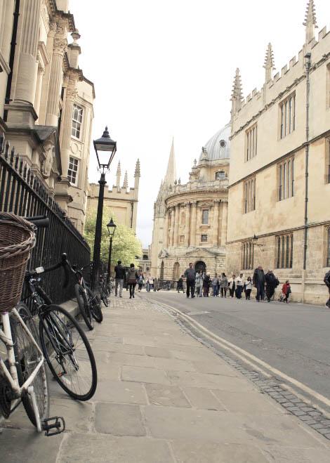 Oxford street with bikes