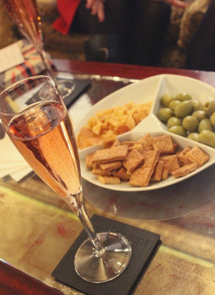 The Goring Hotel, London - pink champagne and nibbles