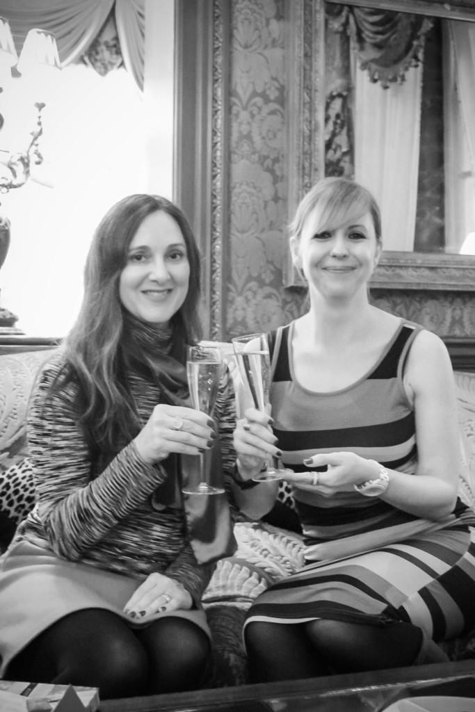 The Goring Hotel, London - enjoying champagne
