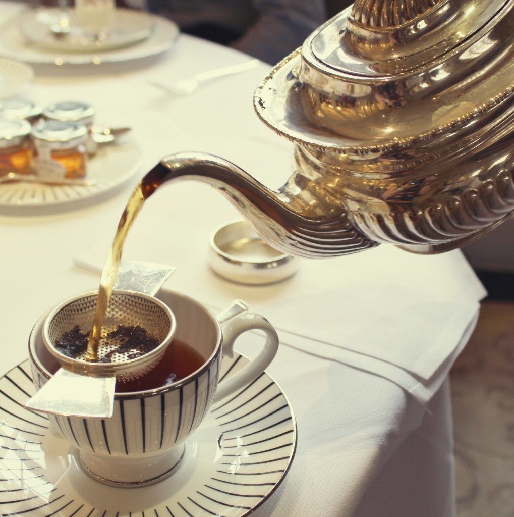 The Goring Hotel, London - afternoon tea being poured