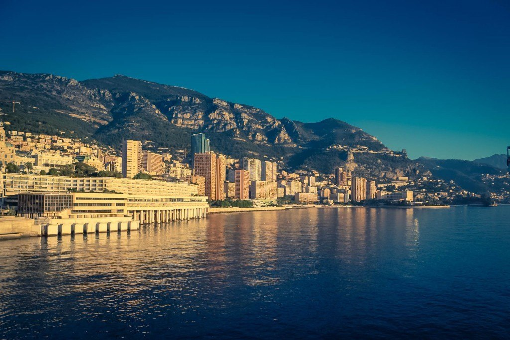 View of Monaco in the sunshine