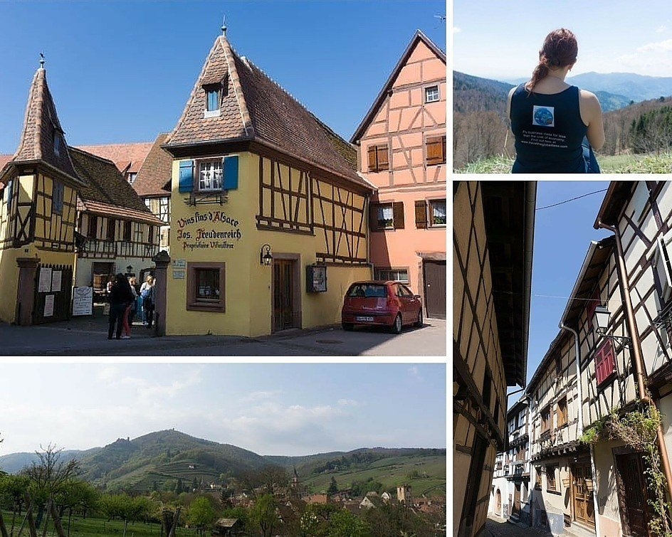 Alsace in France montage of images