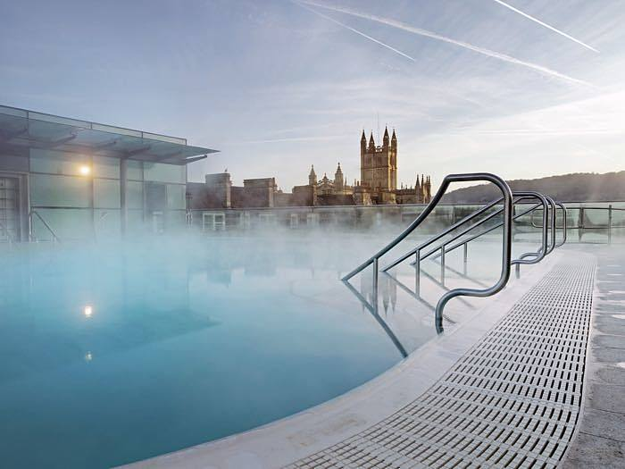 Thermal spa in bath