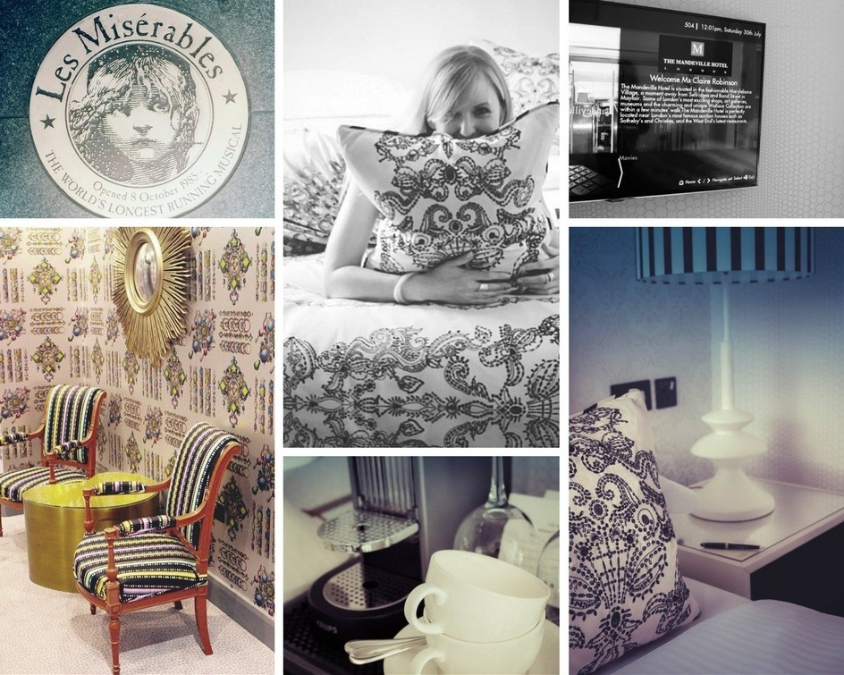 Montage of images of the Mandeville Hotel Riviera Room