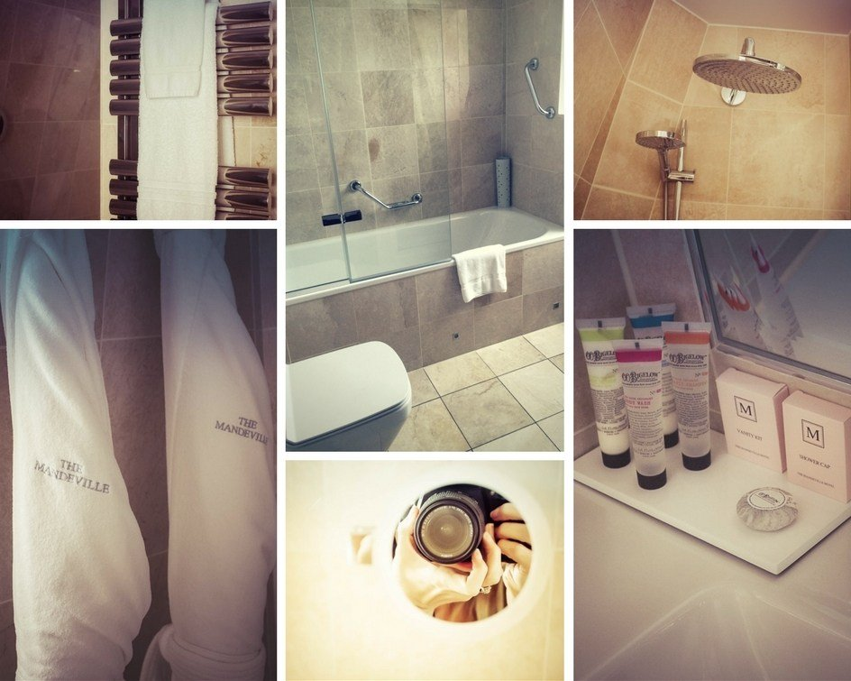 Montage of images of the Mandeville Hotel Riviera BathRoom