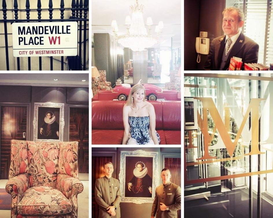 Montage of images of the Mandeville Hotel London inside