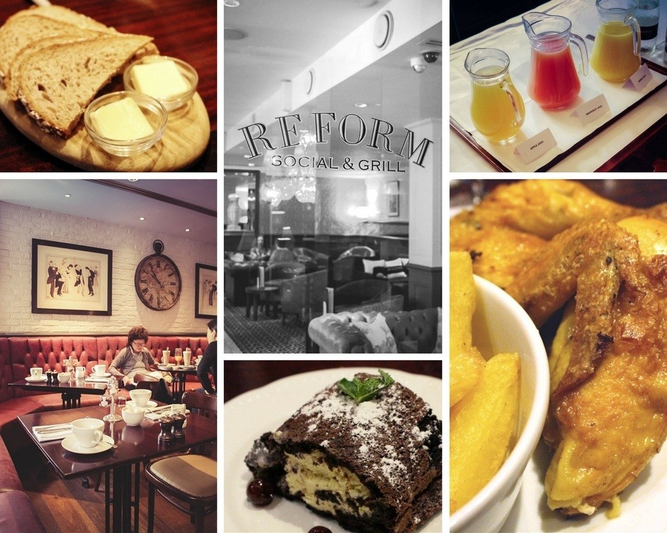 Montage of images of the Reform Social & Grill London