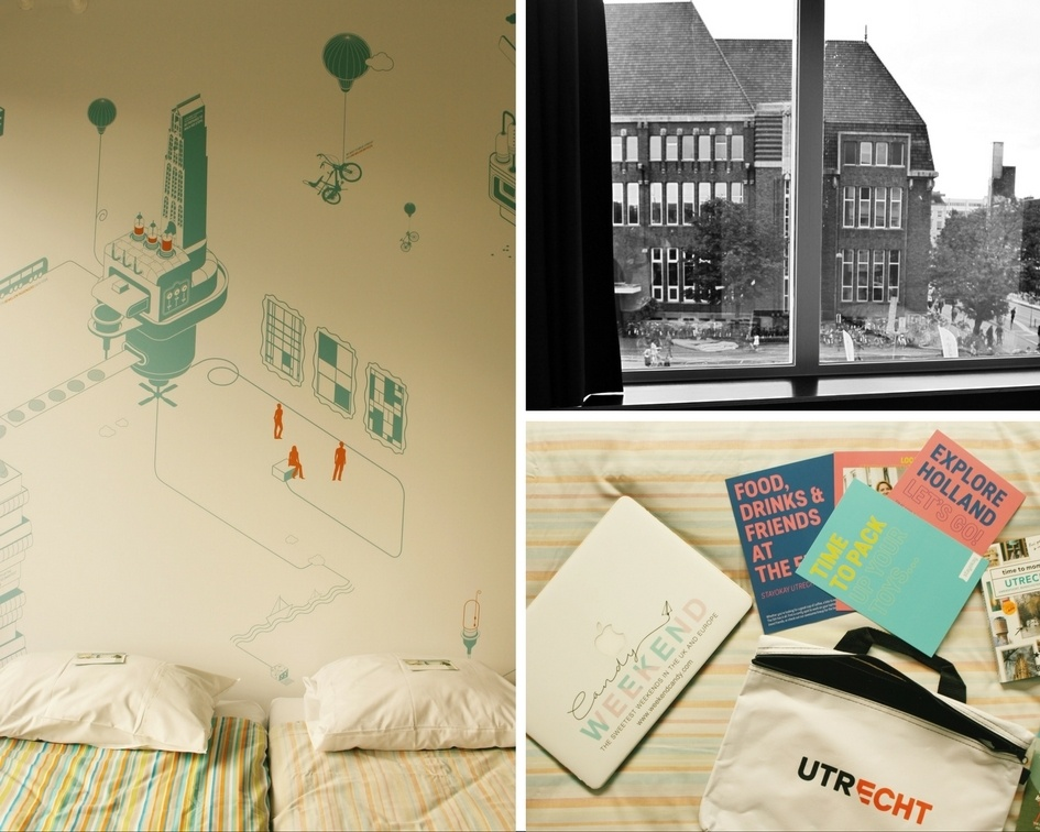Private room montage at Stayokay utrecht-centrum