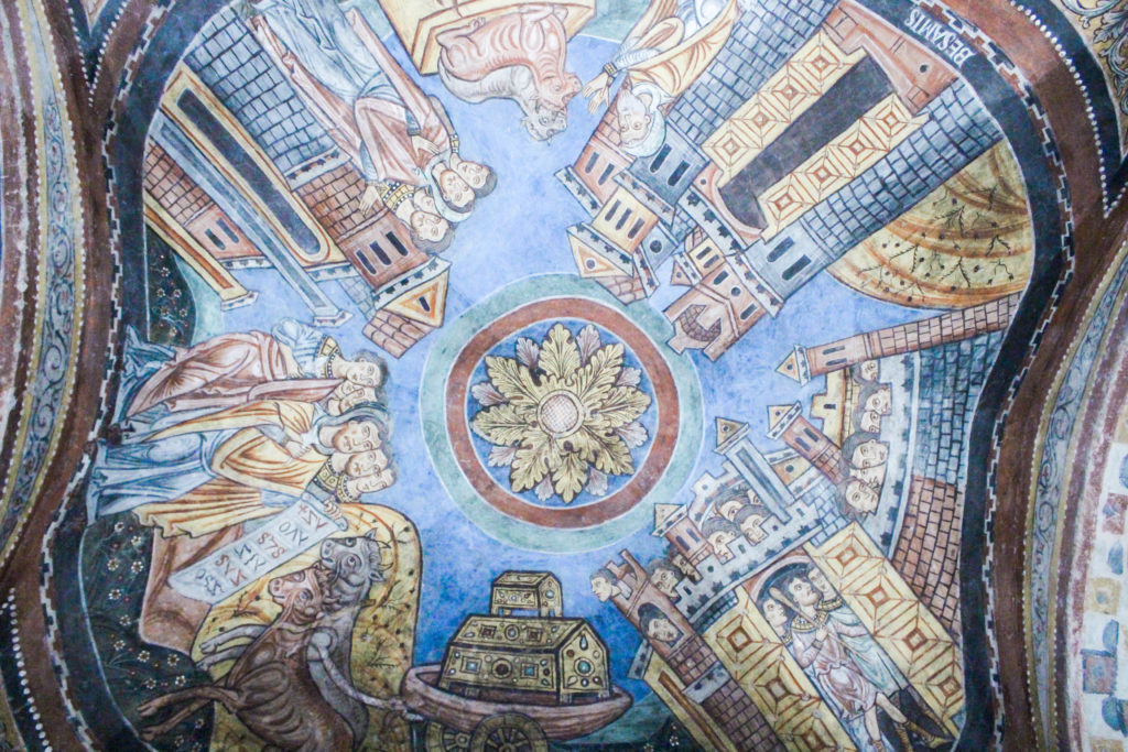 the stunning crypt of St. Magnus in Anagni, Lazio