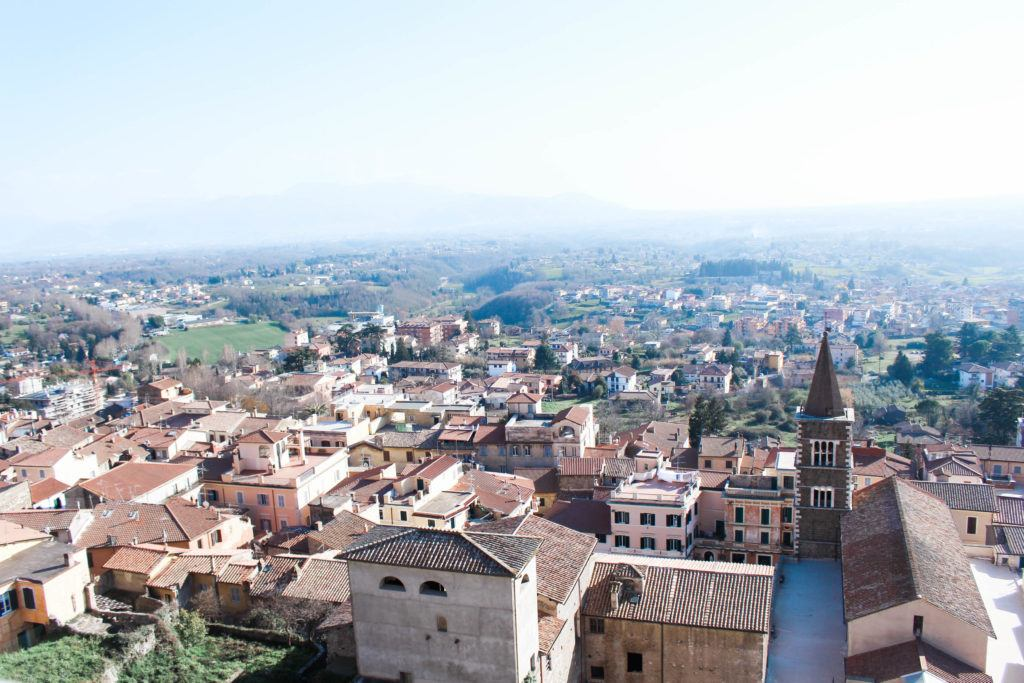 A view of the Italian town of Palestrina