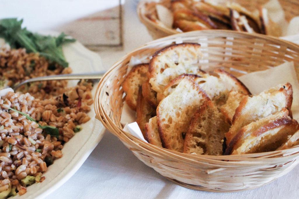 Bread at Farmhouse Le Cerquette in Lazio
