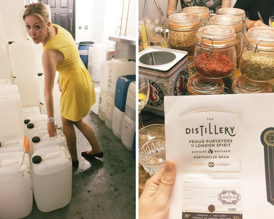 Gin tasting at the Distillery London