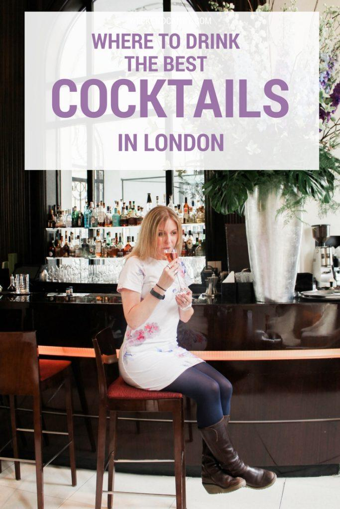 Drinking cocktail at the One ALDWYCH LONDON